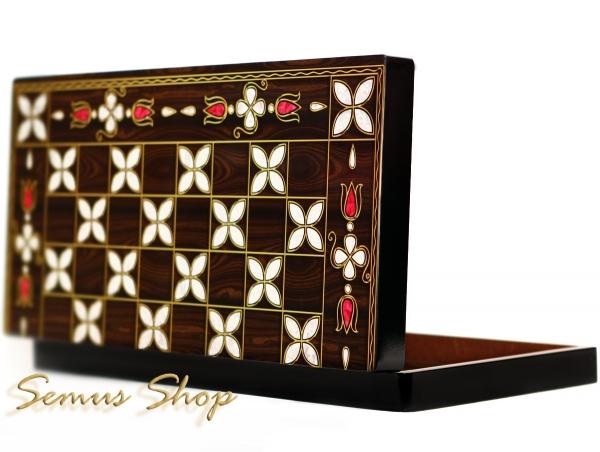 Orientalische BACKGAMMON TAVLA XXL Intarsien Look ANTEP Model