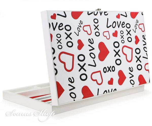 Außergewöhnliches Luxus Trend BACKGAMMON TAVLA XXL - Lover Valentinstag