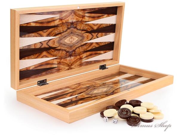Luxus Backgammon Tavla Dama XXL Gesellschaftsspiele Familienspiel Oliven